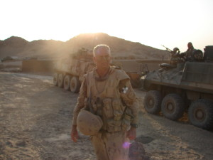 Col Lewis FA JTF-AFG DComd -Afghanistan 2006 the DComd is looking a little tired