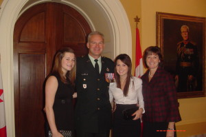 The family at my first MSM presentation, this one for Afghanistan; a second one would come later for OP PROTEUS
