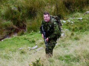 5-8 Sgt Murdy in the ravine
