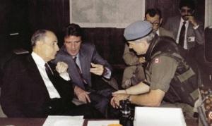 Visit Pres Mitterrand